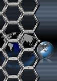 Business hexagon background