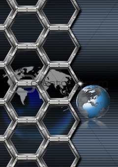 Business hexagon background