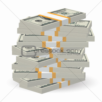 Banknotes stack
