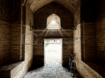 Entranse in Miri Arab Madressah in Bukhara.