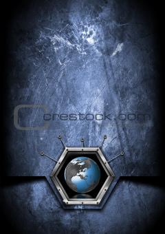 Business Hexagon Grunge background