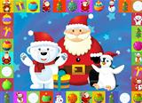 The christmas card with clear background