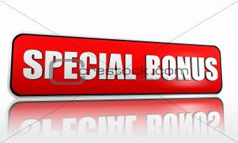 special bonus banner
