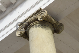 Old ionic column made from sandstone