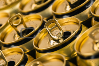 Empty beverage cans