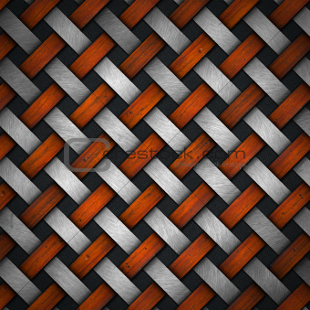 Braided Wood and Metal Background