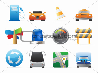 Icons for cars and roads