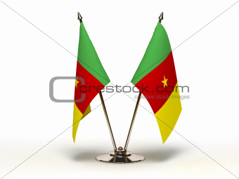 Miniature Flag of Cameroon (Isolated)