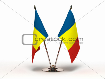 Miniature Flag of Chad (Isolated)