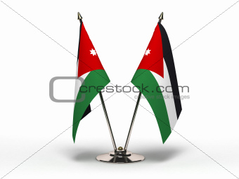 Miniature Flag of Jordan (Isolated)