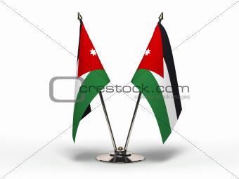 Miniature Flag of Jordan (Isolated)