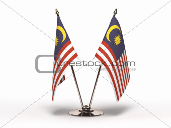 Miniature Flag of Malaysia (Isolated)