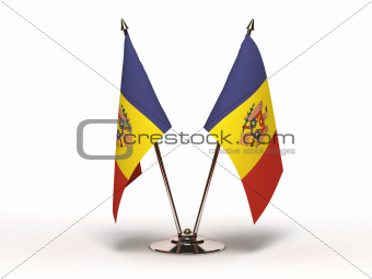Miniature Flag of Moldova (Isolated)