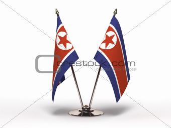 Miniature Flag of North Korea (Isolated)