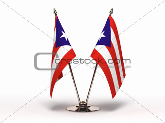 Miniature Flag of Puerto Rico (Isolated)