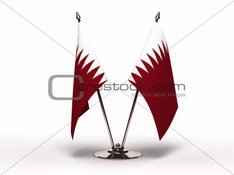 Miniature Flag of Qatar (Isolated)