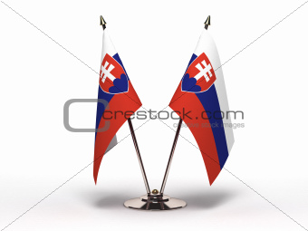 Miniature Flag of Slovakia (Isolated)