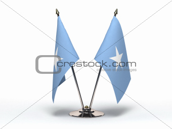 Miniature Flag of Somalia (Isolated)