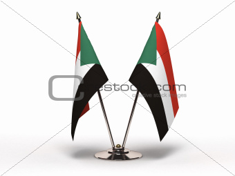 Miniature Flag of Sudan (Isolated)