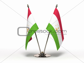 Miniature Flag of Tajikistan (Isolated)