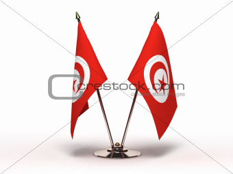 Miniature Flag of Tunisia (Isolated)
