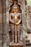 rock carving of dvarapala