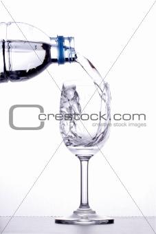 Pour into a glass.