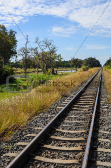 railway and blue sky