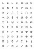 Icons and pictograms set. Vector illustration.