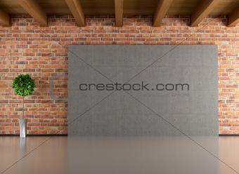 Empty minimalist interior