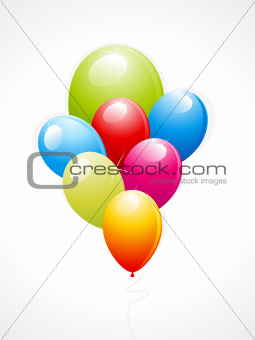abstract glossy balloons