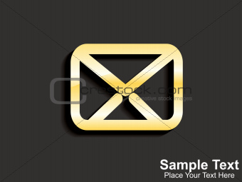 abstract golden email icon