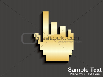 abstract golden hand cursor