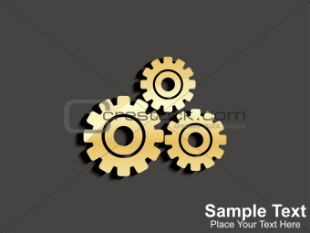 abstract golden setting icon