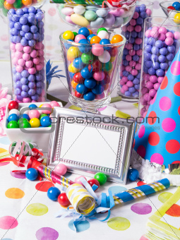 Candy Buffet with blank sign