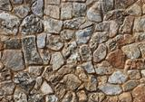 Sepia stone wall