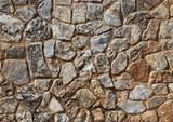 Sepia stone wall
