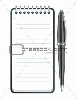 Black Pen and notepad icon.