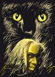 The Witch and the Black Cat staring at You