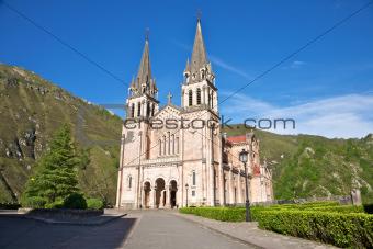 facade of Covadonga basilica