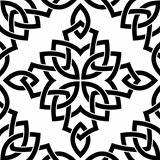Black Celtic seamless pattern
