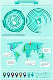 Infographics elements with world map. EPS10 vector illustration.
