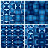 Set of four geometric seamless backgrounds.