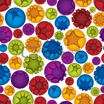 Spheres seamless pattern.