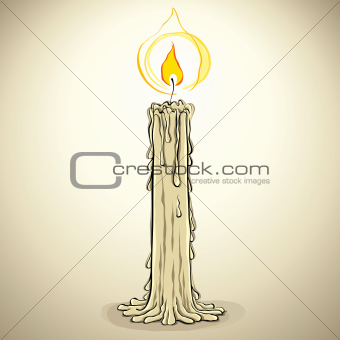 Candle, vector illustration.