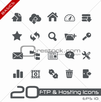 FTP & Hosting Icons // Basics