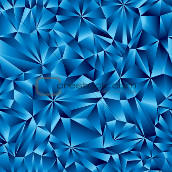 Blue geometric surface seamless pattern.
