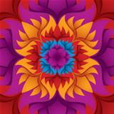 Colorful flower kaleidoscope background.