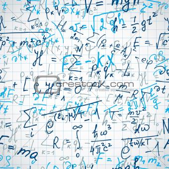 Formulas seamless pattern.