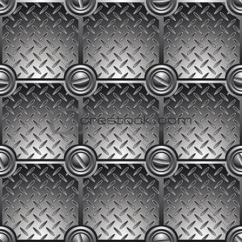 Tiled metal background (seamless).